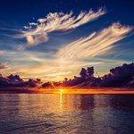 海滩的日落