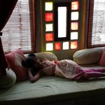 Window seat sleeping area