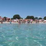 Busy at Porto Istana beach