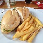 Chicken salad baguette yummy