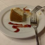Fabulosa tarta de queso.