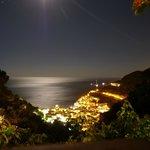 View at night of Minori