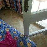 balcony door can not be open, because third bed was squeezed in the room