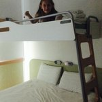 The bunk over the double bed. My daughter loved this sleeping arrangement!