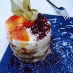 Best authentic Italian restaurant in Brussels. What a dining experience. Must try this Tiramisu!