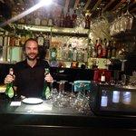 Bar area and fantastic host!