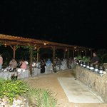 Dinner in the Herb and Vegetable Garden