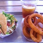 Great tacos and best onion rings ever!