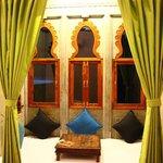 Traditional Jharokhas/windows in room.