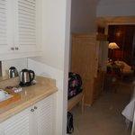 kettle and mini bar area