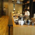 Breakfast buffet at Monsieur Itoh