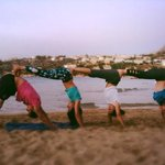 Acro yoga by Almyrida beach