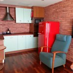 Kitchenette in the living room