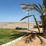 A côté de l'hôtel, c'est le désert.