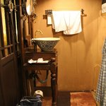 I loved the olde world style of the decoration including lots of wood furniture