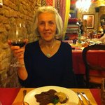I enjoyed the braised Tuscan beef in Brunella di Montalcino with artichoke and smoked cheese pie
