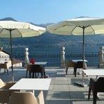 terrazzo sul lago dell'Hotel Helvetia