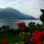 la vista dall'Hotel, lago di Como ed isola Comacina