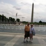 Mom and Me at WWII Memorial  July 21, 2014