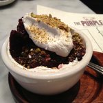 salt roasted beet and whipped goat cheese salad with pistachios - ORDER THIS!