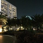 Ritz Carlton Millenia with Singapore flyer in the background