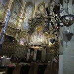 Inside Chapel and black virgin