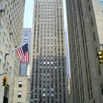 The view of the buildings on Rockefeller Plaza