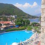 Marti La Perla pool view and beach