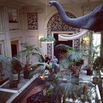 George Eastman's parlour with taxidermied elephant ?!