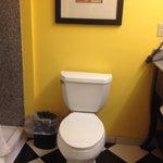 toilet in bath.
