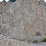 Memorial atop the Quake Lake slide area