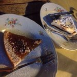 Fig and ricotta with chocolate tart