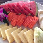 fruit platter with breakfast