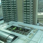 View from room 1603 with pool roof open