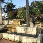 fontana decorativa della piscina piccola