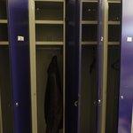 lockers inside the room