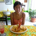 lobster burrito (huge!) + fresh watermelon juice