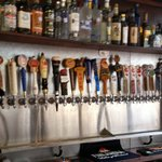 Tap wall. Beer from around the world!