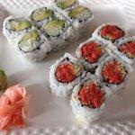 Crunchy Tuna Roll and Avocado Cucumber Roll
