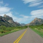 The road into Cave Creek canyon...