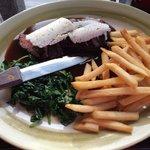 Flat iron steak medium $19.00