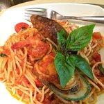 Spagetti seafood 190 THB .