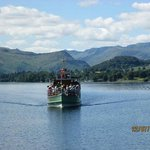 Steamer coming in to Pooley Bridge