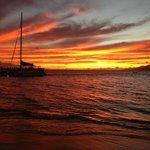 Lahaina Maui sunset at Whaler`s village