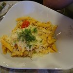 Penne and wild mushrooms