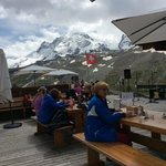 This is what paradise looks like from the terrace of Restaurant Hotel Schwarzee