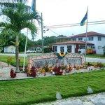 Entrance to Swain's Cay Lodge