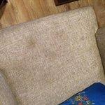 dirty sofa chair