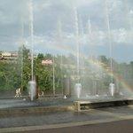 Beautiful fountain show
