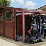 Dive gear storage